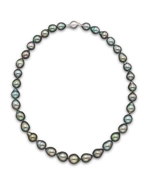 "Bloomingdale's - Natural Color Tahitian Pearl Strand Necklace in 14K White Gold, 18"" - 100% Exclusive"
