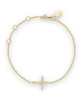 Meira T 14k Yellow Gold Cross Bracelet