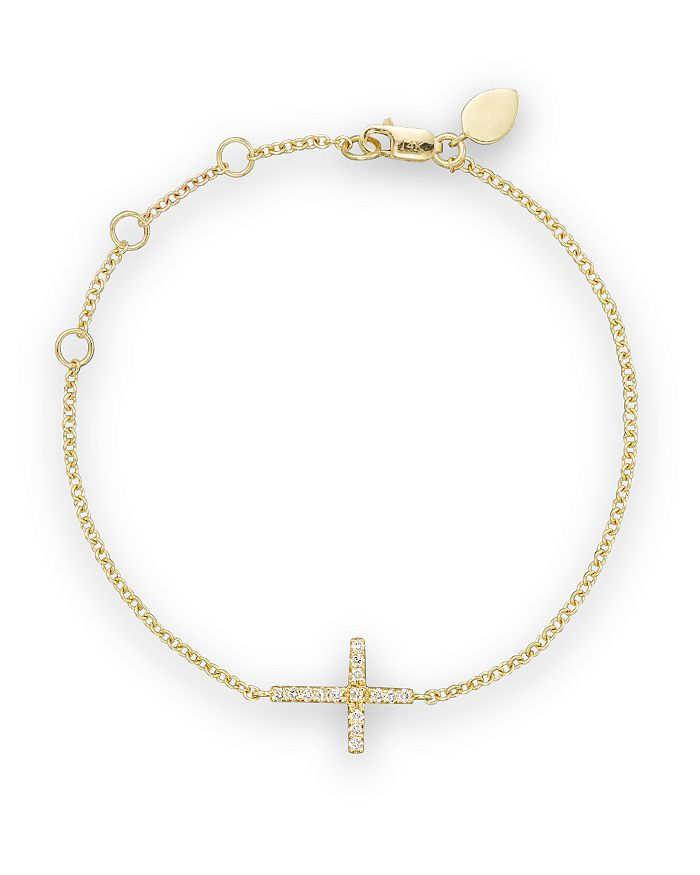Meira T - 14K Yellow Gold Cross Bracelet