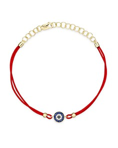 Meira T - Diamond, Blue Sapphire And 14K Yellow Gold Evil Eye Bracelet