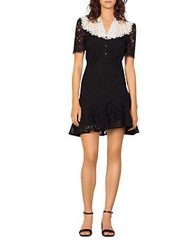 Sandro - Rosane Lace Mini Dress