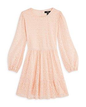 AQUA - Girls' Long Sleeve Lace Dress, Big Kid - 100% Exclusive