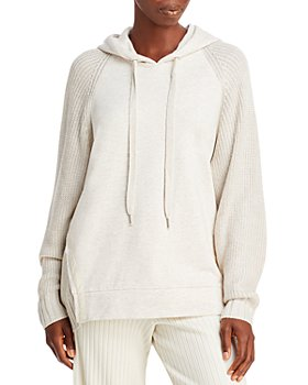 Splendid - Shea Mixed Knit Sweater Hoodie
