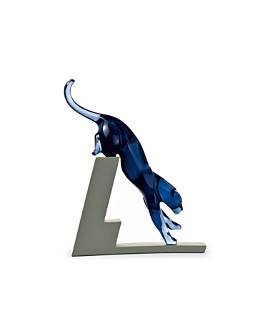 Baccarat - Leaping Panther Figurine