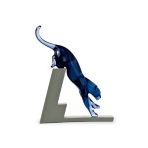 Baccarat Leaping Panther Figurine