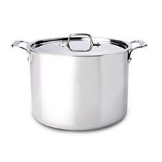 All-Clad Stainless Steel Stock Pot with Lid - Bloomingdale's Registry_0