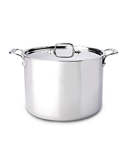 All-Clad - Stainless Steel 12-Quart Stock Pot with Lid