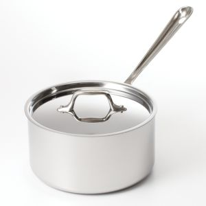 All Clad Stainless Steel 3.5 Quart Sauce Pan with Lid