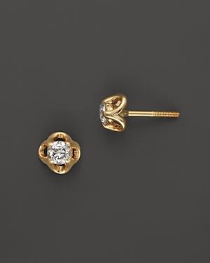 Diamond Mini Stud Earrings in 14K Yellow Gold, 0.20 ct. t.w. - 100% Exclusive