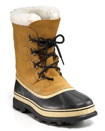 Sorel - Men's Caribou Waterproof Nubuck Leather Cold-Weather Boots