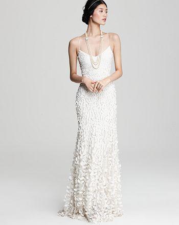 Theia - Theia Crepe Petal Gown & more