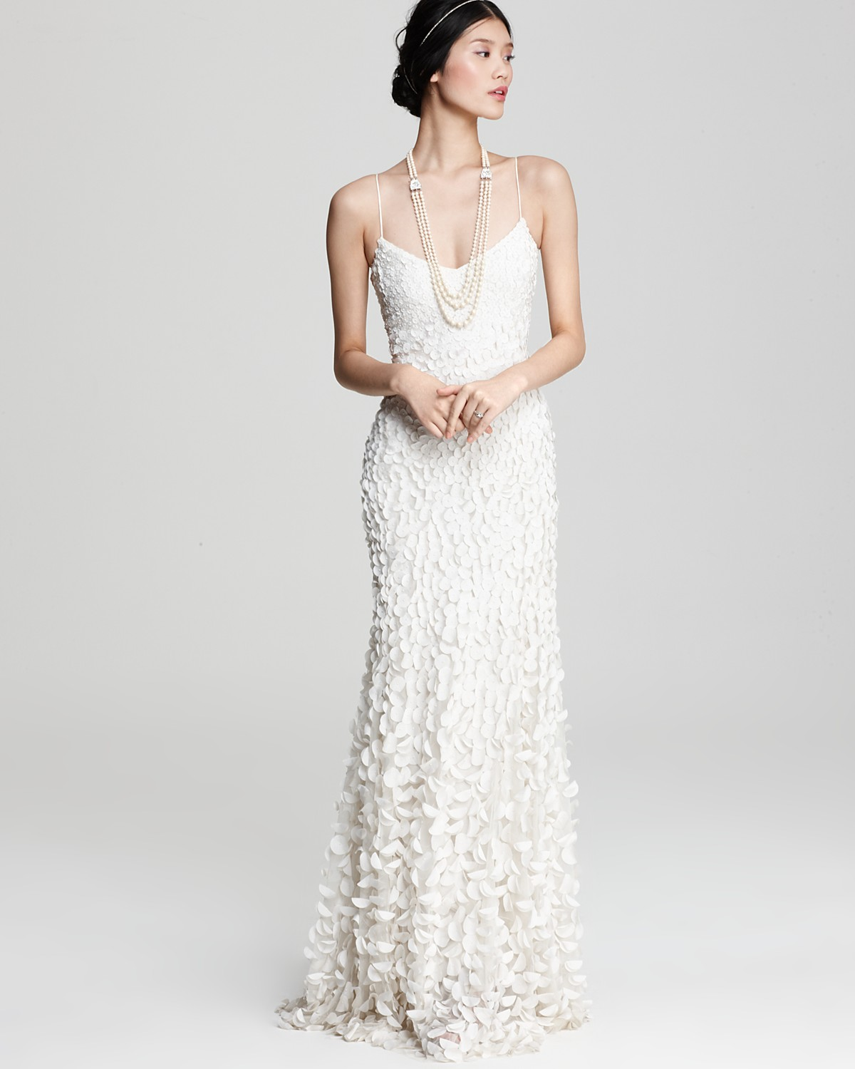 Theia crepe petal gown more bloomingdales junglespirit Image collections