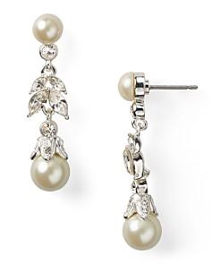 Carolee - Linear Pearl Teardrop Earrings