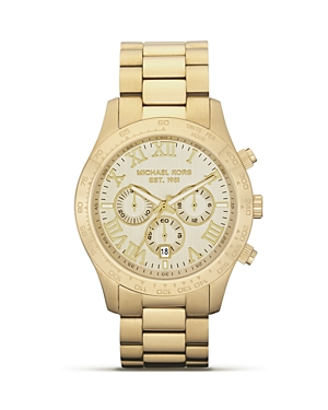 Michael Kors Men's Round Gold Watch, 45mm