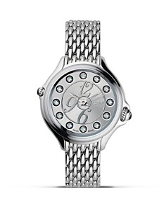 Fendi Round Crazy Carats Diamond and Topaz Stainless Steel Watch, 33mm - Bloomingdale's_0