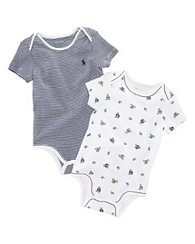 Ralph Lauren - Boys' Layette Printed Bodysuit, 2 Pack - Baby