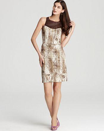 Rachel Roy - Rachel Roy Snake Print Dress