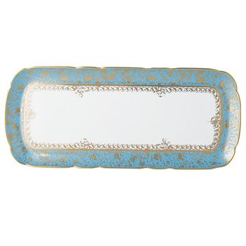 Bernardaud - Eden Turquoise Rectangular Cake Platter