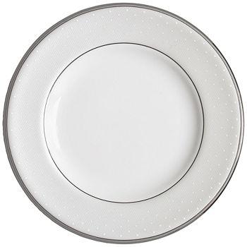 """Monique Lhuillier Waterford - Monique Lhuillier """"Pointe D'esprit"""" Salad Plate"""