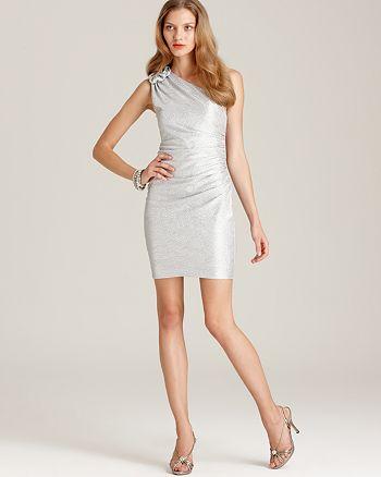 Max & Cleo - Metallic One Shoulder Dress