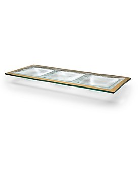 Annieglass - Roman Antique 3-Section Tray