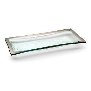 Annieglass - Roman Antique Platinum Olive Tray