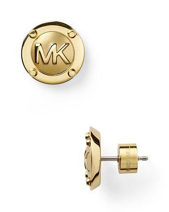 Michael Kors - MK Button Earrings