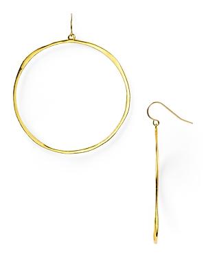 Gorjana G Ring Circle Drop Earrings