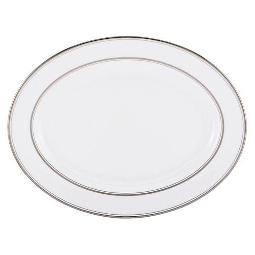 "kate spade new york - Library Lane Platinum Oval Platter, 16"""
