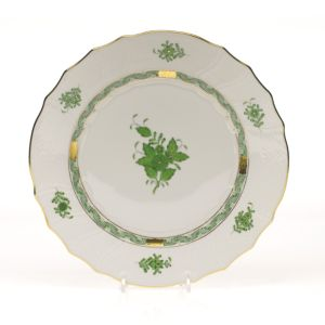 Herend Chinese Bouquet Dinner Plate, Green