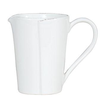 VIETRI - Vietri Lastra Pitcher, White