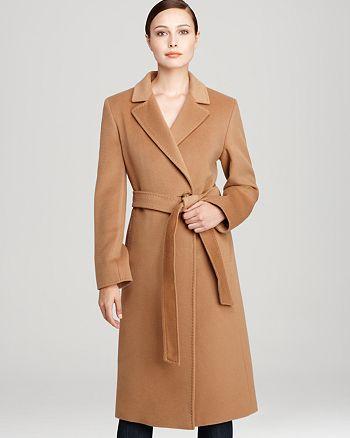 30e0bddae108 Cinzia Rocca Belted Long Wool Coat | Bloomingdale's