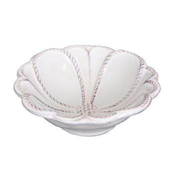 "Juliska - Jardins du Monde Whitewash 4"" Blossom Bowl"