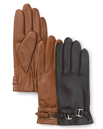 Ralph Lauren - Leather D-Ring Gloves