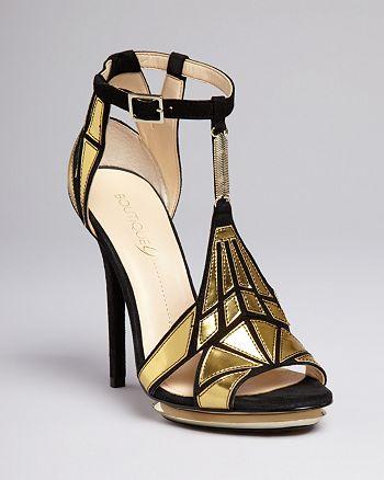 Boutique 9 - Platform Evening Sandals - Orseena Art Deco