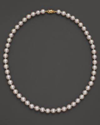 TARA PEARLS Akoya 7.5Mm Cultured Pearl Strand Necklace, 18