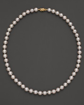 Tara Pearls - Akoya 7.5mm Cultured Pearl Strand Necklace, 18""