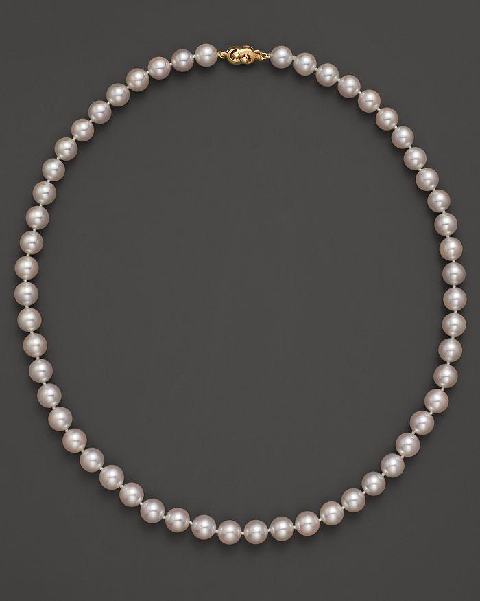 "Tara Pearls - Akoya 7.5mm Cultured Pearl Strand Necklace, 18"""