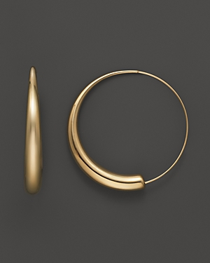 14K Yellow Gold Large Round Endless Hoop Earrings - 100% Exclusive