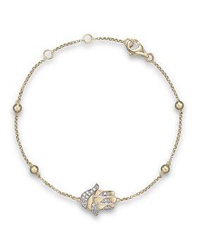 Bloomingdale's - Diamond Hamsa Bracelet in 14K Yellow Gold, .10 ct. t.w.- 100% Exclusive