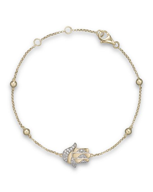 Bloomingdale S Diamond Hamsa Bracelet In 14k Yellow Gold 10 Ct T W Nbsp