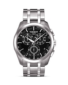 Tissot Couturier Men's Black Chronograph Stainless Steel Watch, 41mm - Bloomingdale's_0