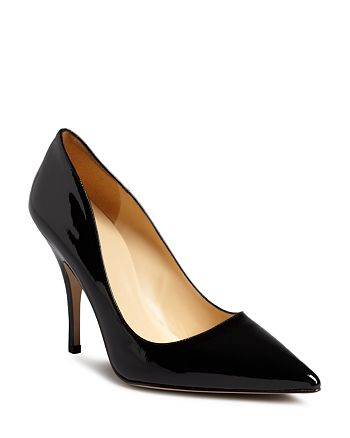 kate spade new york - Women's Licorice Patent High-Heel Pointed Toe Pumps
