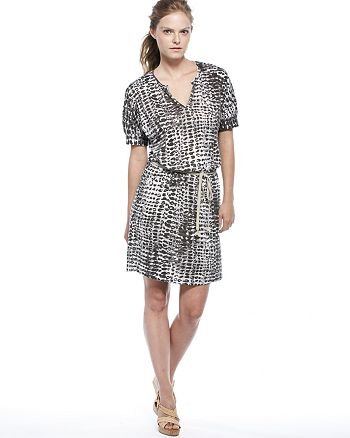 Velvet by Graham & Spencer - Velvet by Graham & Spencer Dress - Bali Print Tie Waist