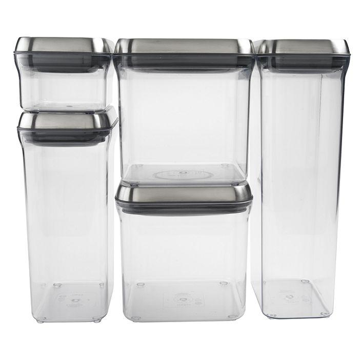 OXO - Steel 5-Piece Pop Container Set