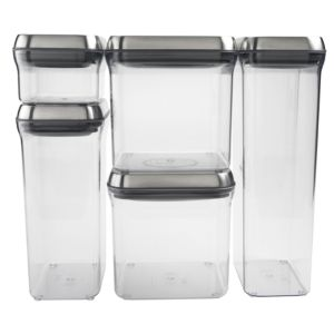 Oxo SteeL 5-Piece Pop Container Set