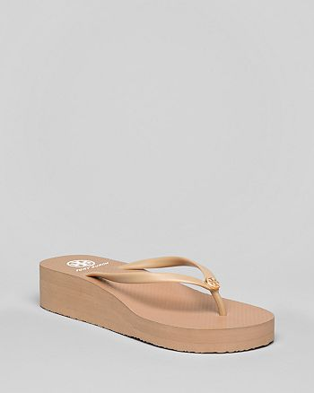 Tory Burch - Women's Thin Wedge Logo Flip-Flops