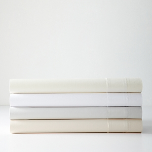Hudson Park Luxe Percale Satin Band Fitted Sheet, California King - 100% Exclusive