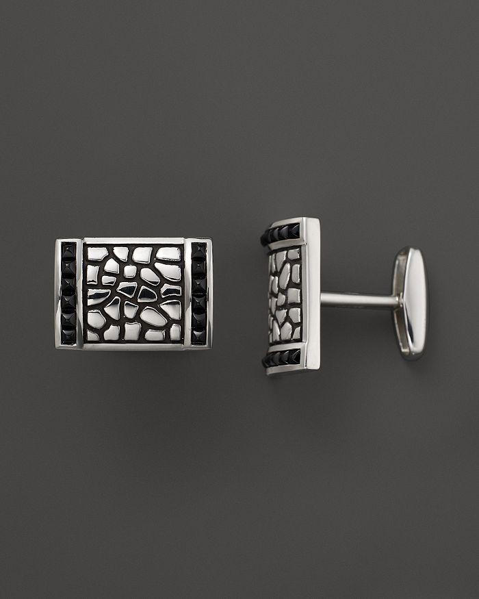 J Goodman - J. Goodman Sterling Silver Black Spinel Cufflinks