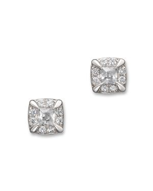 Diamond Princess Cut Stud Earrings in 14K White Gold, .25 ct. t.w. - 100% Exclusive